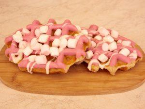Wafel deluxe met marshmallows 1 stuk
