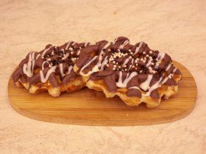 Wafel deluxe met chocolade bolletjes 1 stuk