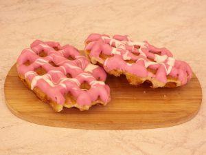 Wafel roze chocola 1 stuk