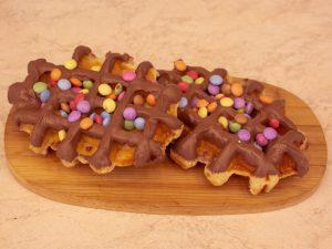 Wafel deluxe met chocolade smarties 1 stuk