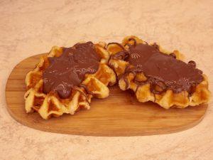 Wafel deluxe met chocolade nutella 1 stuk