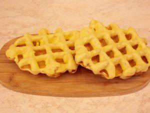 Wafel met gele chocola 1 stuk
